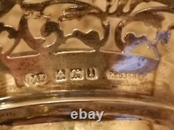 Vintage Sterling Silver 1885 Deakin & Francis Pair Posy Vases