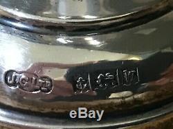 Vintage Sterling Silver Bud Vase Pair Birmingham 1971 190 Grams