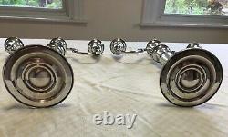 Vintage Sterling Silver Pair Of Candelabras Gorham #1130 Cement Filled