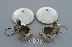 Vintage Sterling Silver Pair Tea Pot Shaped Infusers Spitzer & Fuhrmann Curacao