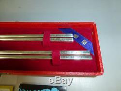 Vintage Top Grade Japanese Sterling Silver Chopsticks Pair In Case (Watch Video)