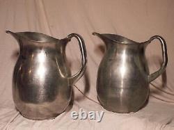 Vintage Vollrath stainless steel 1 gallon pitcher pair