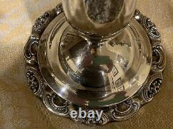 Vintage Wallace Brand BAROQUE Pair of Silver Plated Candelabras
