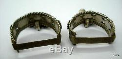 Vintage antique tribal old silver toe ring pair traditional jewelry for big toe
