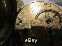 Vintage pocket watch silver hallmarked fusee pair case w gadsby lincoln