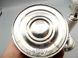 Vtg Gorham Sterling Silver Candle Holder Candlestick Pair Set No 809 Pillar