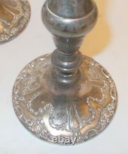 Vtg PAIR GORHAM CHANTILLY STERLING Silver CANDELABRA 750 Elegant