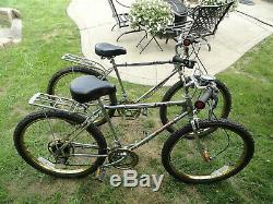Vtg Pair 1981 Chrome & Gold Murray Baja 10 Speed Mountain/bmx Bike Bicycle Mtb