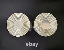 Vtg Pair Weighted Sterling Silver Revere for Cartier Candle Holders with Shades