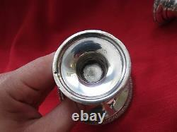 Vtg Prelude by International Sterling Silver Candlestick Pair 3 1/2