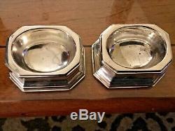 Vtg Tiffany Pair Of Sterling Silver Salt Cellars-174.5 Grams- Marking On Bottom