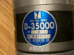 YL Acoustic D-35000 Horn Tweeter Driver Unit PAIR USED JAPAN ALE vintage speaker