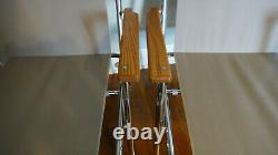 ZIP DEE Silver Gray Folding Lawn Chair Airstream USA Vintage Pair of 2 RV Camp