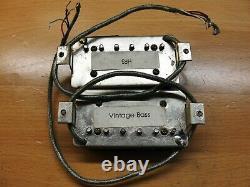 1989 Paul Reed Smith Hfs Et Vintage Bass Pickups Set Paire De Plaques De Base En Argent
