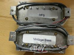 1990 Paul Reed Smith Et Hfs Vintage Micros Basse Argent Set Paire Exc Baseplates