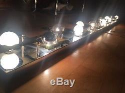 2 Grands Luminaires Vintage Modernes Op Art MI Siècle Siècle Applique Murale Luminaires Paire Vanité