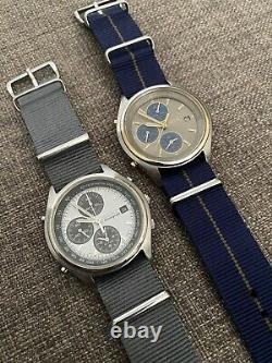 2x Montres Chronographes Vintage Seiko 7t32-7c60 Et 7c69 Panda (pair)