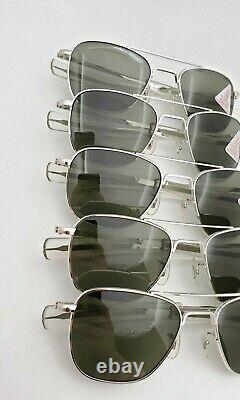 5 Paires Nos Vintage American Optical Ao Fg58 White Bayonet Aviator Withbox & Cases