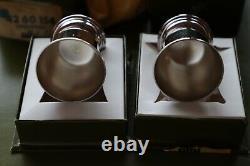 Albi Vintage Paire De Français D'argent Plaqué Christofle Egg Cups + Box Nouveau