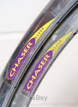 Alesa Chaser Vintage Belge Aero Clincher Jantes Paire 700c 18 Trous Merckx