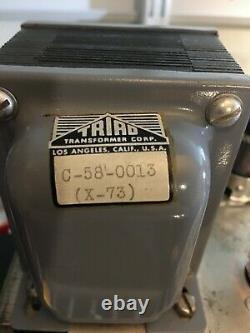 Ampex Vintage 6927 Tube Paire D'amplificateur Mono