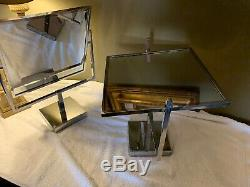 Anciennes Vanity Dressing Magasin Joaillerie Bilaterale Affichage Miroir Paire