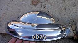 Années 1940 1950 Pontiac Wheel Covers Hub Caps Original Lyon Gm Accessoire De Luxe