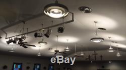 Années 1950 Au Milieu Du Siècle Moderne Ufo Chandelier Saturn Ring Vtg Light Fixture De Kurt Versen