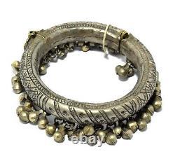 Antique Bédouin Anklet Tribal Danse Anklets Boho Ethnique Vintage Argent Kuchi Vieux