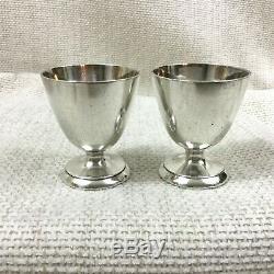 Antique Christofle Argent Plaqué Coquetiers Cup Paire Vintage Art Déco Français