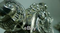 Antique Vintage Belle Argent 925 227 Grams Paire De Bougeoirs Bâton
