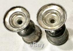 Antique Vintage Pre1899 Paire Impériale Russe Argent 84 Goblet Vodka Coupe Beaker
