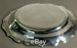 Argent Vintage Solide Sterling Paire De Plats Bord Festonné, 137,20, Grams