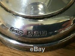 Argent Vintage Sterling Bud Vase Paire Birmingham 1971 190 Grammes