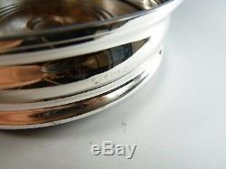 Argent Vintage Sterling Paire Decanter Coasters 5 1/4 1964
