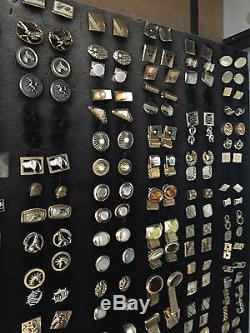 Assortiment De 100 Paires Argent Ou Ton Or / Assiette Boutons De Manchette Vintage En Vrac 5 $ La Paire