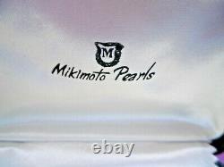 Belle Paire De Vieilles Boucles D'oreilles Mikimoto Perle Sur Argent Massif