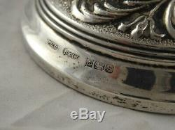 Belle Paire Ornement Vintage Sterling Argent Massif Bougeoirs W I Broadway 1976