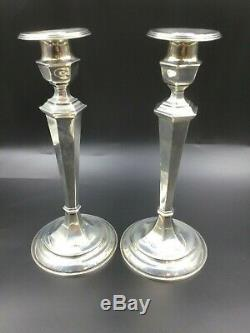 Bougeoirs Candélabres Convertibles En Argent Sterling Vintage Gorham 925