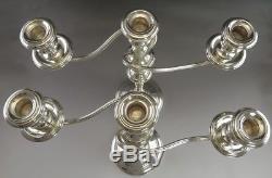 Bougeoirs Candélabres Convertibles En Paire De Gorham Vintage En Argent Massif