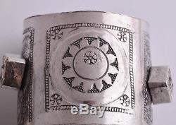 Bracelet Vintage Berbère En Argent Avec Bracelet Manchette Paire