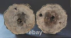 Chandeliers Plaque D'argent Galvanoplastie Vintage Paire Antique Victorienne De Grande Taille