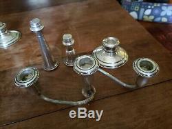 Chandeliers Vintage À 3 Lumières En Argent Sterling - Reed & Barton 13