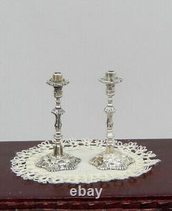 Chaudières Vintage Argent Sterling Acquisito Paire Dollhouse Miniature 112