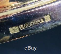 Christofle Vintage Paire De Chandeliers Candelabres En Argent Plaqué