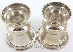 Correspondance Paire Vintage & Co Tiffany Argent Sterling Petit Squat Vase