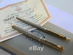 Couple Vintage Parker 75 Ciselé ' & Stylo Bille D'occasion