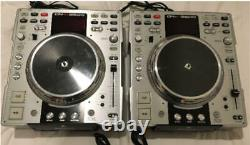 Denon Dn-s3500 2 Set Paire Dj CD Player Silver Japan Used Working Vintage Rare