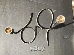 Détenteurs Vintage Paire Towle Argent Sterling MID Century Moderne Bougie