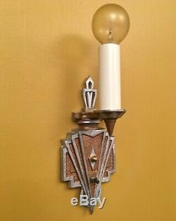 Éclairage Vintage Paire Années 1930 Art Déco Rewired